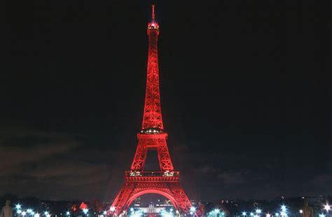 Eiffel Tower in red | Paris | Red lightened Eiffel Tower ...
