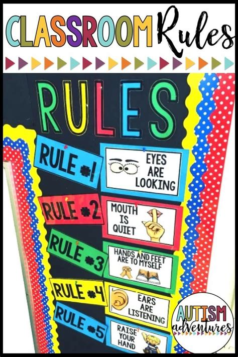 classroom rules posters kindergarten classroom