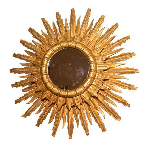 Vintage Sunburst Mirror by Vintage French Giltwood Sunburst Mirror On Antique Row