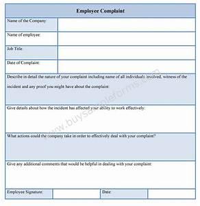 employee complaint form employee complaint template With hr complaint form template