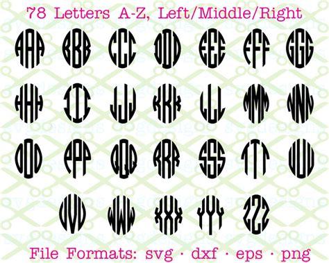 oval  letter circle monogram monogramsvgcom  svg