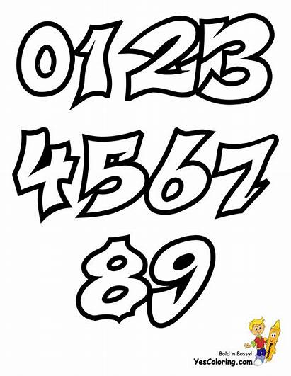 Graffiti Coloring Numbers Pages Yescoloring Throw Alphabet