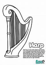 Harp Kunjungi sketch template