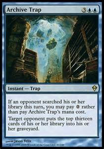 mtg startled awake or archive trap which is better for mill decks