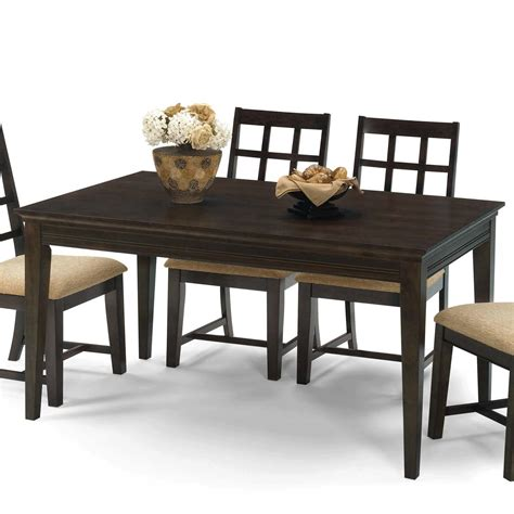 rectangle dining table progressive furniture casual traditions casual 4 leg 1749