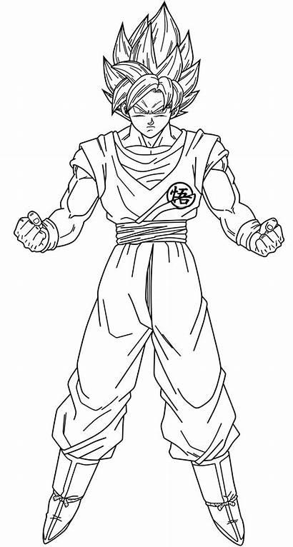 Goku Ball Super Drawing Saiyan Ssj Lineart