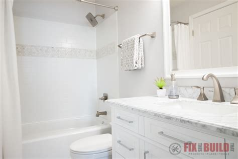 diy small bathroom remodel fixthisbuildthat