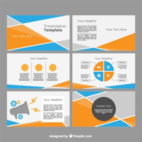 power point template  abstract shapes vector
