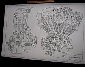 Details About Harley Davidson Shovelhead Engine Oil Map
