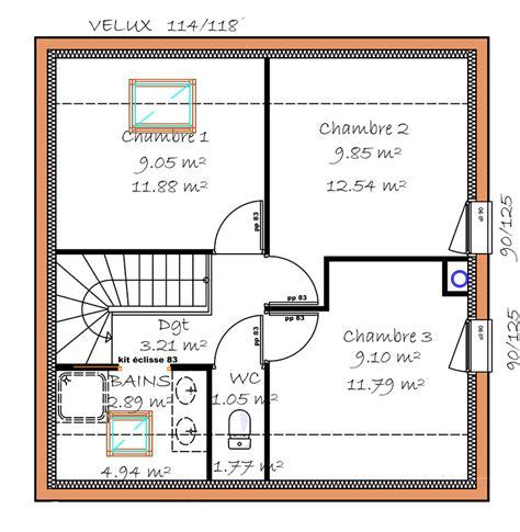 plan maison 3 chambres etage plan de maison a etage gratuit atlub com