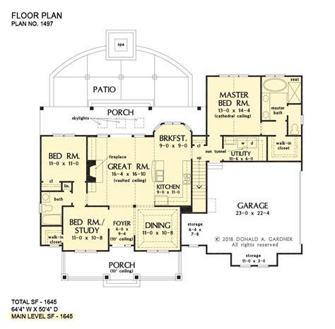 home plan  thomasina  donald  gardner architects