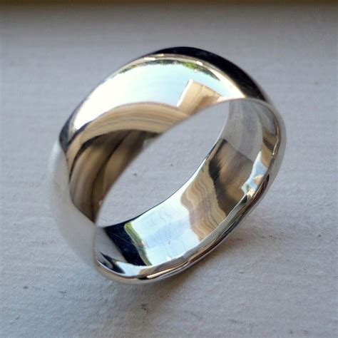 mm  sterling silver mans wedding band ring sizes