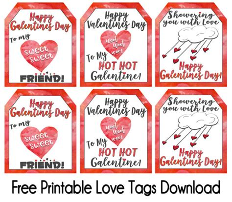 Printable Gift Tags Love