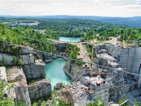rock of ages granite quarry picture shows the