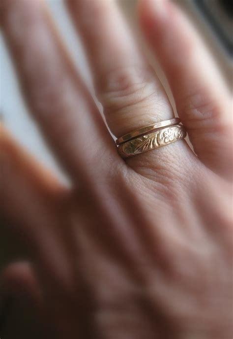 earth inspired wedding ring