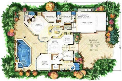 mediterranean style floor plans mediterranean home plans florida plan design siena 9538