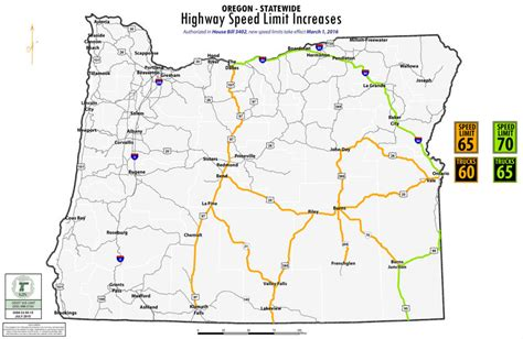 higher speed limits   places  pass  oregon
