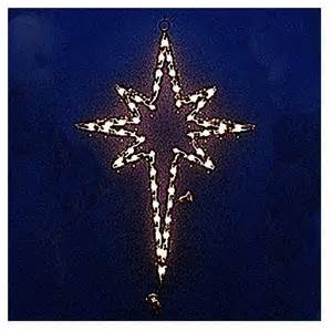 lighted star of bethlehem outdoor christmas decorations traditional outdoor holiday