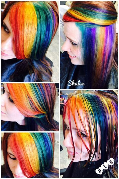 Rainbow Haircolorblue Yellow Green Red Pink Orange Purple