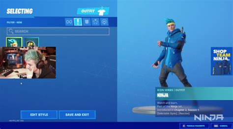 ninja    custom fortnite skin dot esports