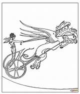 Coloring Chariot Medea Dragon Pages Mythology Greek Golden Fleece Drawing Printable Achilles sketch template