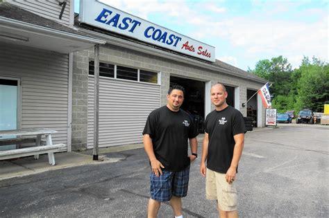 east coast auto breaks ground   facility courant