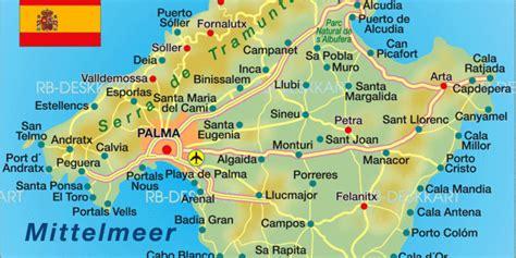 karte von mallorca insel  spanien welt atlasde