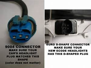 Vw Headlight Wiring Adapter - Single Chamber 9004 To D-connector  Mk3 Golf  Jetta