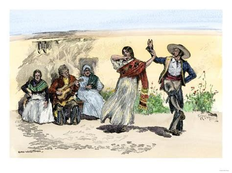 'Spanish Californians or Mexicans Dancing the Fandango ...