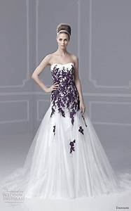 wedding dress with plum colour detail wedding pinterest With plum dress for wedding