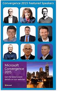 Featured Speakers at Microsoft Convergence 2015 ...