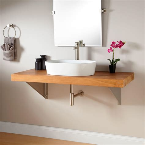 wall mounted vanity wall mount wrought iron console vanity for vessel sink
