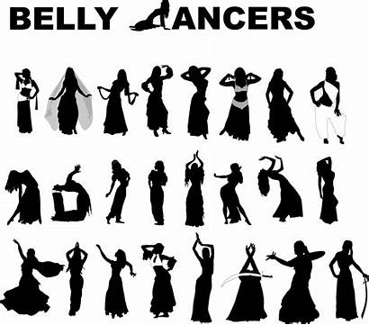 Belly Dance Vector Dancers Silhouette Silhouettes Clipart