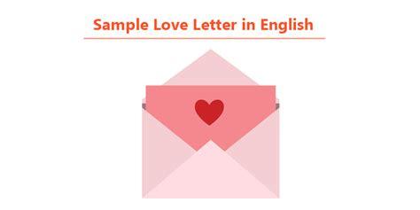 love letter sample  english  love letter