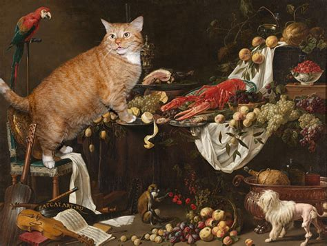 She Added Her Fat Cat Into Classical Paintings