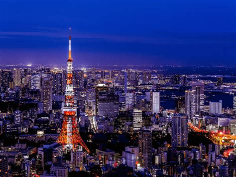 japan tokyo dream city tokyo tower night view preview