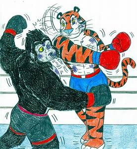Boxing Tiger vs Gorilla 2 by Jose-Ramiro on DeviantArt