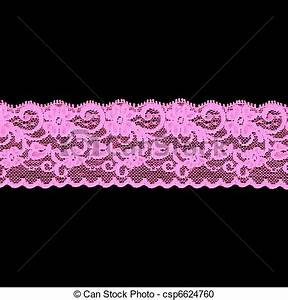 Stock Photography of pink floral lace band isolated over a ...