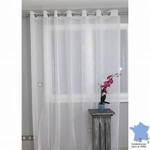 Rideaux Grande Hauteur 350 : voilage pr t poser grande largeur puygouzon blanc 250 x ~ Dailycaller-alerts.com Idées de Décoration