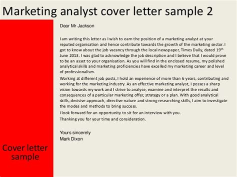 Cover Letter Marketing Analyst by Sales And Marketing Analyst Cover Letter