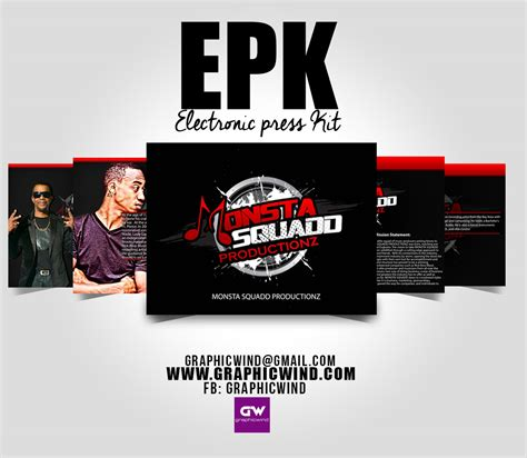 electronic press kit graphicwind creative designs