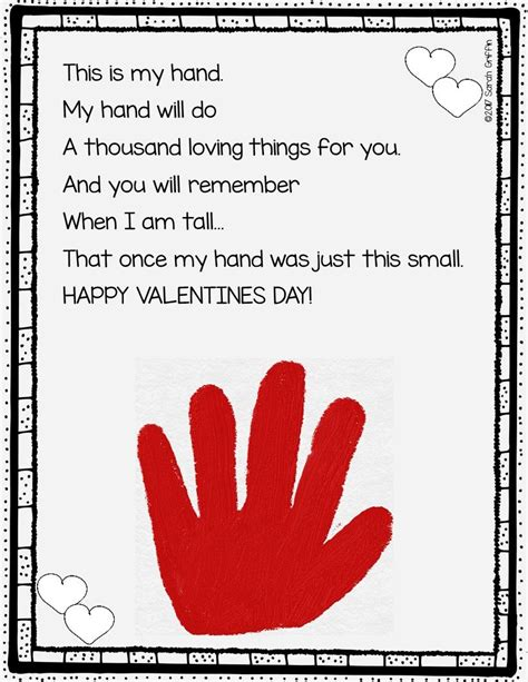 Valentine's Day Poem for Preschool Parents