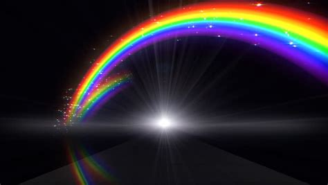 Abstract Rainbow Black Background by Rainbow In Black Background Stock Footage 686926