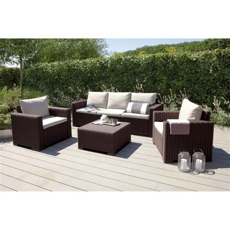 salon de jardin d occasion california salon de jardin 5 places aspect rotin tress 233 marron achat vente salon de jardin
