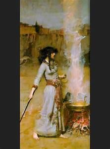 John William Waterhouse The Magic Circle Painting | Best ...