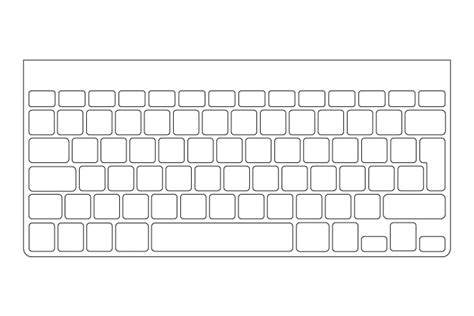 27 Images Of Pc Keyboard Template Print