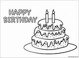 Cake Birthday Pages Coloring sketch template