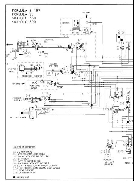 Skandic Wiring Diagram by 1993 Scandic 503r Wiring Diagram Skandic Expedition