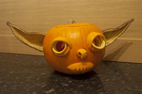 yoda pumkin how to make a yoda pumpkin milners blog