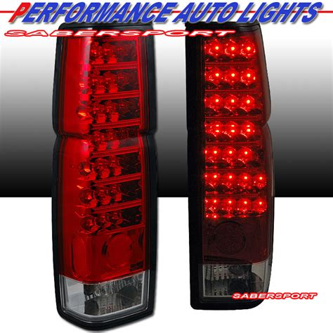nissan hardbody tail lights pair red clear quot l e d quot type led tail lights for 86 97